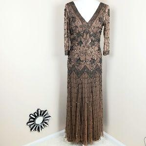 Pisarro Nights beaded maxi dress